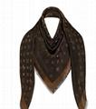Louis Vuitton LV So Shine scarf Monogram jacquard silk viscose wool Shawl M71548