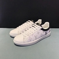 Louis Vuitton Luxembourg Sneaker 1A5E27 white grained calf leather laser-printed