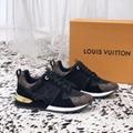 Louis Vuitton Run Away Sneaker 1A3CW4 suede calf leather Monogram-canvas shoes