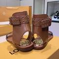 Louis Vuitton Passenger Flat Sandal LV 1A63ZZ ankle strap ladies fashion sandals