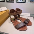 Louis Vuitton Passenger Flat Sandal LV 1A63ZZ ankle strap ladies fashion sandals