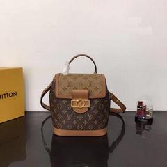 Louis Vuitton Dauphine Monogram Backpack PM LV M45142 magnetic lock women bags