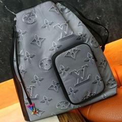 Louis Vuitton Drawstring Backpack M44940 Virgil Abloh Monogram metallic rainbow