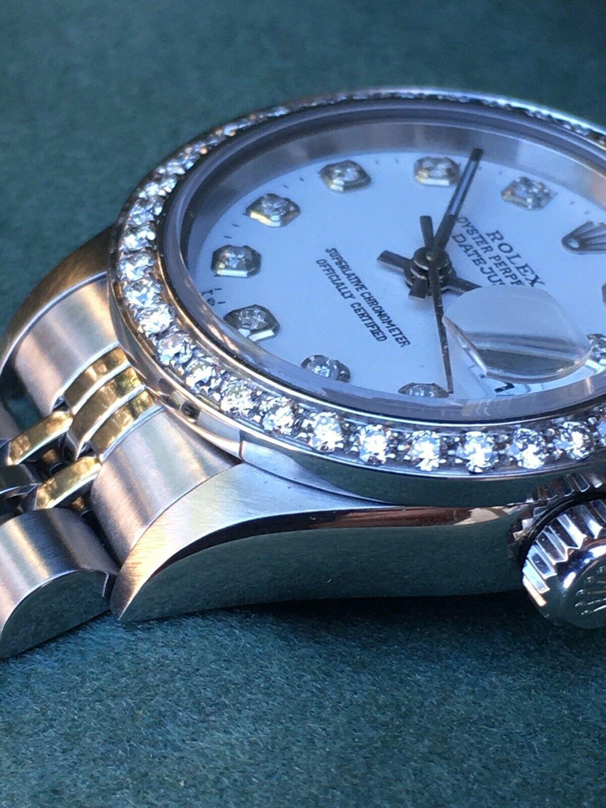 Rolex Lady Datejust 79174 Steel 26mm White Diamond Dial Diamond Bezel 7