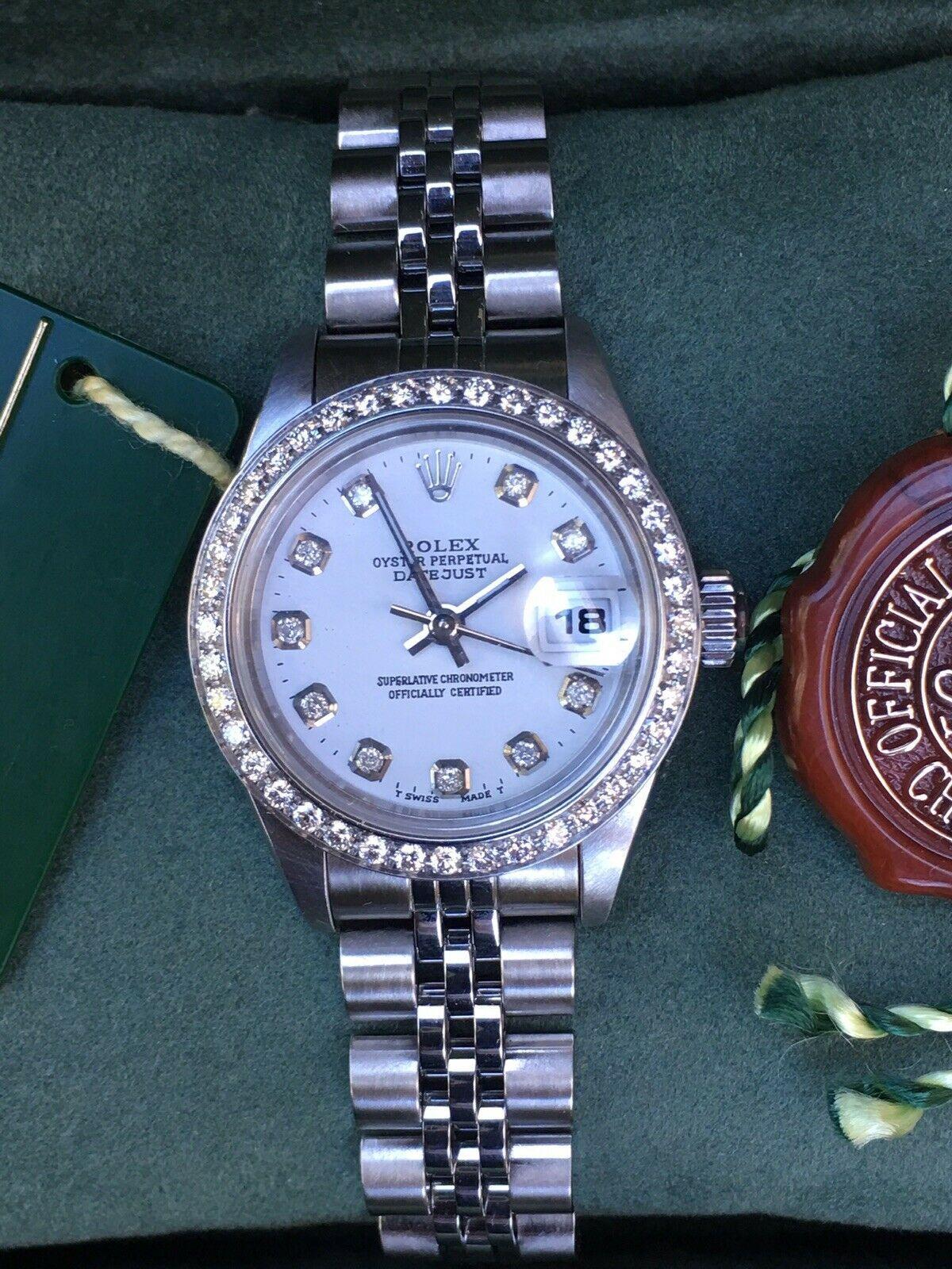 Rolex Lady Datejust 79174 Steel 26mm White Diamond Dial Diamond Bezel