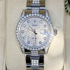 Rolex Datejust 178240 31mm Midsize Diamond Bezel, Lugs And Band. Factory Dial