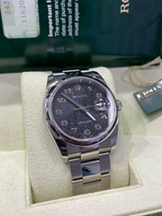 Rolex Datejust 116200 Black Jubilee Dial Stainless Steel Box Papers 2007