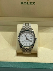 BRAND NEW Rolex Datejust 41 White Dial 126334 Stainless Steel Box Papers