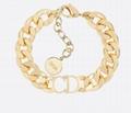 Dior DANSEUSE ETOILE CD LOGO CHAIN GOLD BRACELET