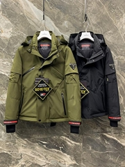 men down coat Olives Fashion zipped Puffer jackets for man