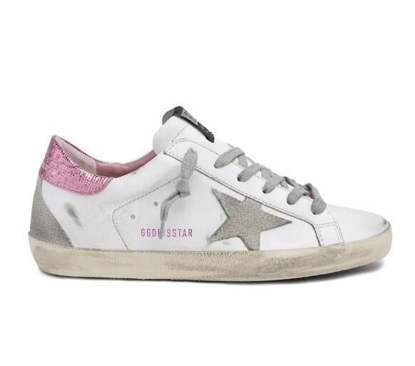 GGDB Super-Star pink Sequin Sneaker GOLDEN GOOSE Women Logo marked shoes