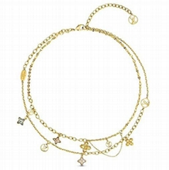 Louis Vuitton Blooming Strass Necklace Women LV gold necklaces