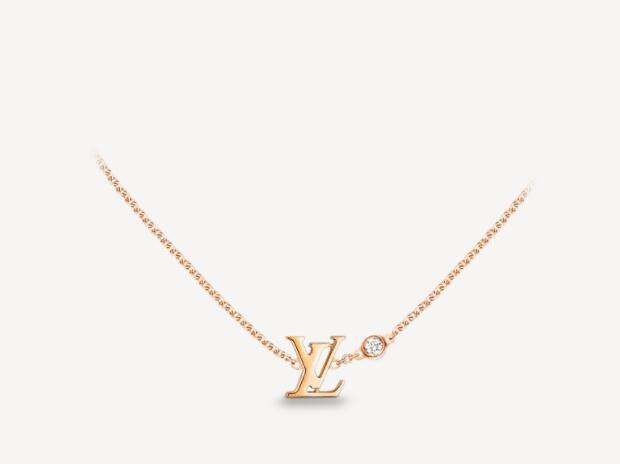 Louis Vuitton IDYLLE BLOSSOM LV PENDANT PINK GOLD AND DIAMOND Necklace
