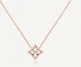 Louis Vuitton COLOR BLOSSOM STAR PENDANT LV necklace PINK GOLD