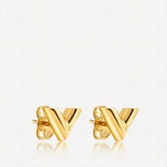 Louis Vuitton ESSENTIAL V STUD EARRINGS LV V letter earrings
