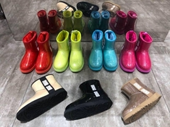 Women's Rain Boots & Waterproof Boots      CLASSIC CLEAR MINI boots cheap boots