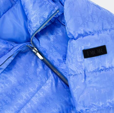 Dior Blue Oblique Monogram Down Puffer Jacket
