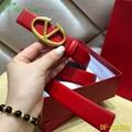 Valentino Vee Ring Belt red