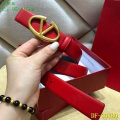 Garavani Go logo belt Women's red Vee Ring Belt