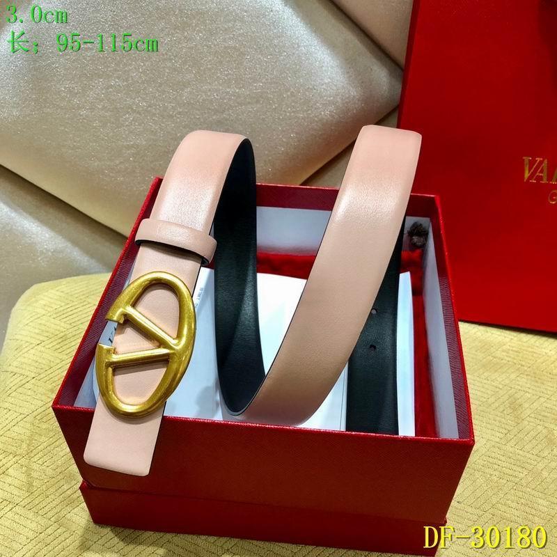 Valentino Vee Ring Belt pink