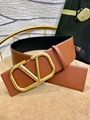 Balenciaga BB leather belt brown