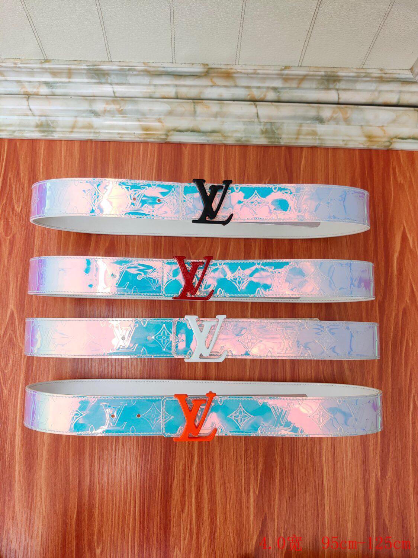 Louis Vuitton LV Shape Belt Monogram 40MM Prism Fashion LV Prism belt men