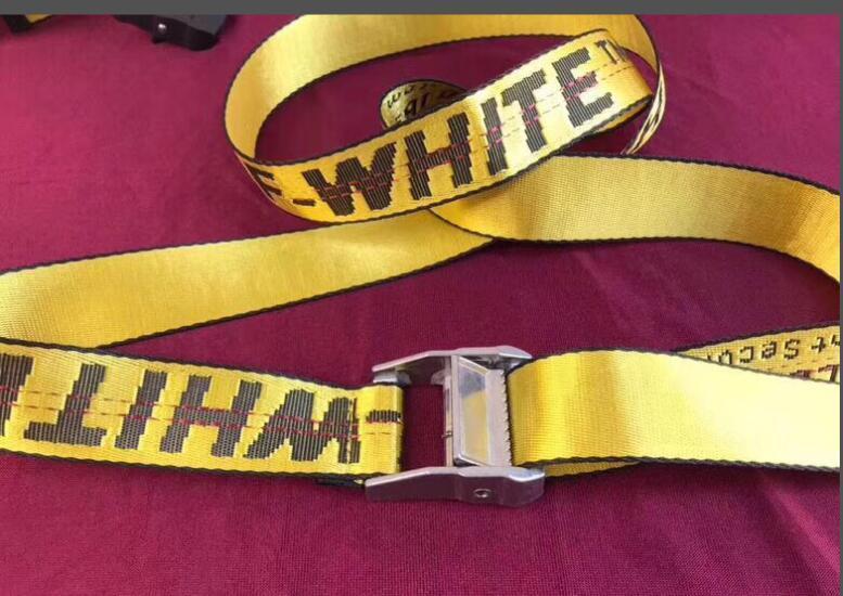 OFF WHITE  Classic Logo Industrial Belt