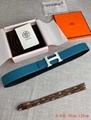 Hermes H belt buckle & Reversible leather strap 38mm