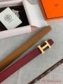 Hermes black blue H belt buckle & Reversible leather strap 38mm