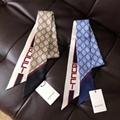 Gucci Women's Gg Supreme Printed Silk Twill Scarf Gucci Silk Neck Scarf