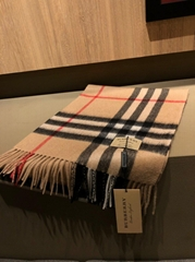 Checked cashmere scarf Fashion classical check wool scarf