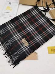 Giant Check Cashmere Scarf fashion men check scarf black