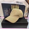 Prada Cotton Canvas Baseball Hat Cap men adjust hats