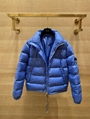 Dior Blue Oblique Monogram Down Puffer Jacket Men