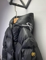 Versace signature motif padded jacket Women Down coat with hood Black