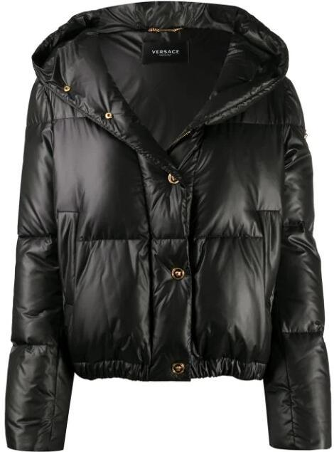Versace signature motif padded jacket