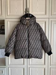 FF-print reversible down filled puffer jacket Women FF logo down coats