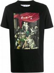 Off-White Caravaggio-print T-shirt Men off white cotton tee
