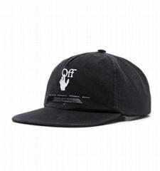 Off-White Hands Off logo cap black men adjustable baskball caps