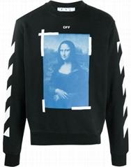 Off-White Mona Lisa graphic print sweatshirt off white black cotton sweatshirts