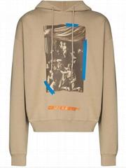 Off-White x Browns 50 Caravaggio cotton hoodie men cotton jersey knit hood