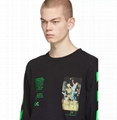 OFF-WHITE Arch Shapes T-shirt Black/Gree Men cheap cotton tee