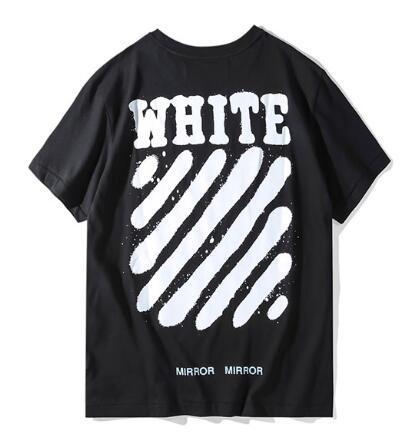 Off-white men black cotton t-shirts