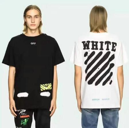 Off-white men white cotton t-shirts