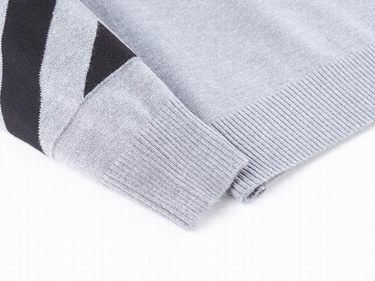 OFF-WHITE SWEATER WITH LOGO Grey crewneck sweater