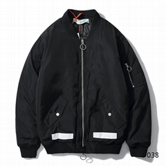 Off-White red Arrows Down Jacket Men zipper coats