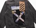 Off-White Slim Denim Jacket with Fleece off white cotton jacket 4
