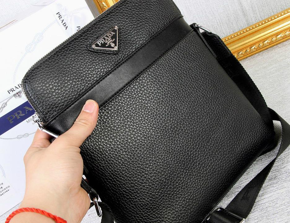 Prada Saffiano Leather Messenger Shoulder Bag