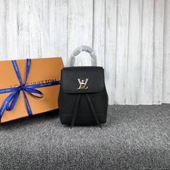Louis Vuitton LOCKME BACKPACK MINI BLACK LV BLACK LEATHER BACKPACK BAG