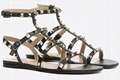 Valentino Rockstud Leather Ankle Strap Sandal